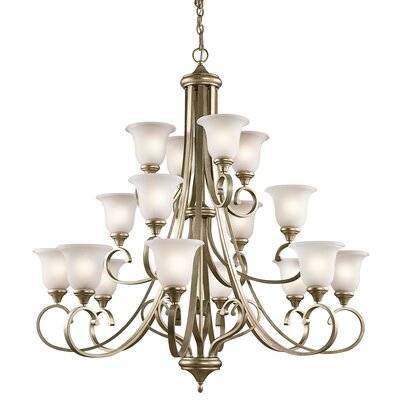 Aghalislone 16 Light Shaded Chandelier