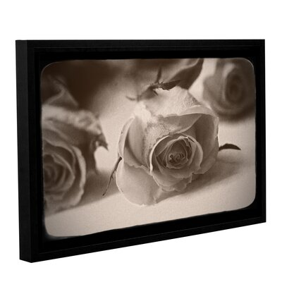 Three Roses Framed Photographic Print on Wrapped Canvas