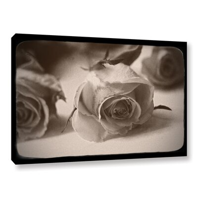 Three Roses Photographic Print on Wrapped Canvas