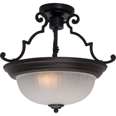 Isaacson 2-Light Semi Flush Mount Finish: Oil Rubbed Bronze