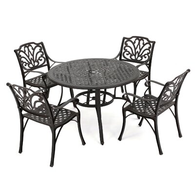 Aitken 5 Piece Outdoor Dining Set