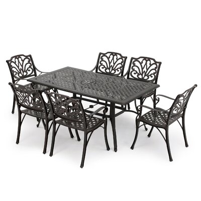 Aitken 7 Piece Outdoor Dining Set