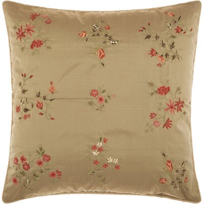Morgandale Embroidery Silk Throw Pillow