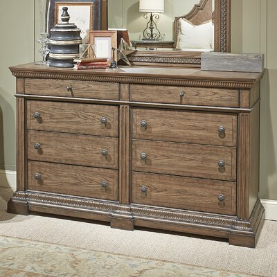 Deverel 8 Drawer Double Dresser