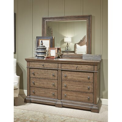 Macgregor 8 Drawer Dresser with Mirror