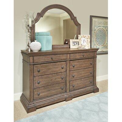 Pollak 8 Drawer Dresser with Mirror