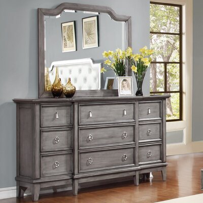 Palmisano 9 Drawer Dresser with Mirror