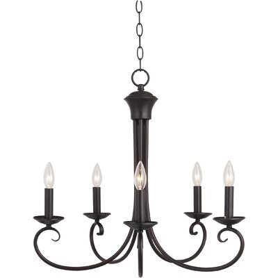Calafia 5-Light Candle-Style Chandelier Finish: Oil Rubbed Bronze
