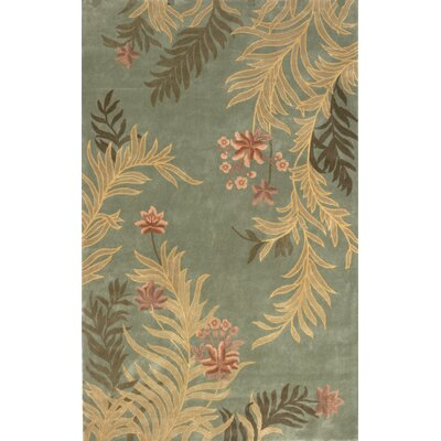 Laurel Hand-Tufted Sage Area Rug Rug Size: 5 x 8