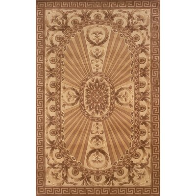 Laurel Hand-Tufted Light Brown Area Rug Rug Size: 96 x 136