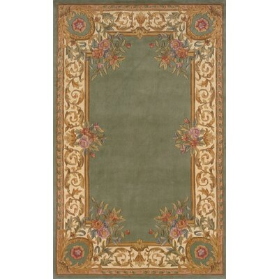 Laurel Hand-Tufted Sage Area Rug Rug Size: 36 x 56