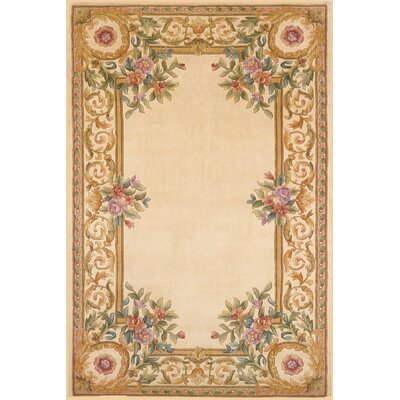 Laurel Hand-Tufted Ivory Area Rug Rug Size: 5 x 8