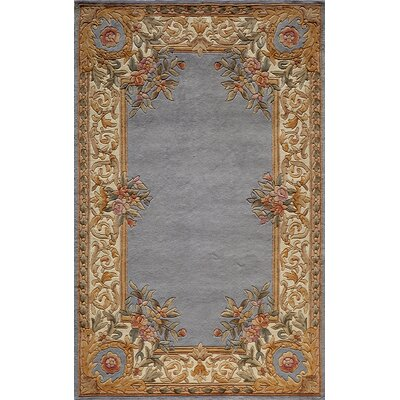 Laurel Hand-Woven Blue Area Rug Rug Size: 36 x 56