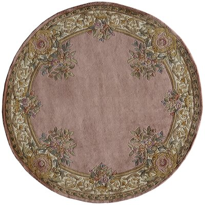 Laurel Hand-Tufted Rose Area Rug Rug Size: 36 x 56