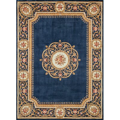 Laurel Hand-Tufted Black/Gold Area Rug Rug Size: Round 79