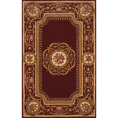 Laurel Hand-Tufted Burgundy Area Rug Rug Size: 36 x 56