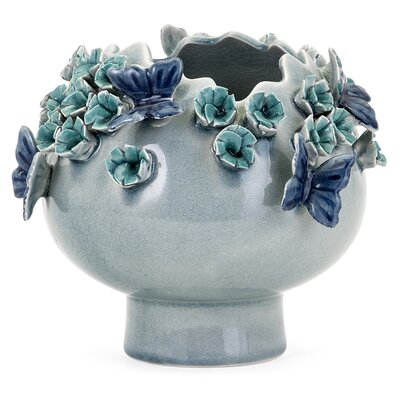 Blue Butterfly Decorative Bowl