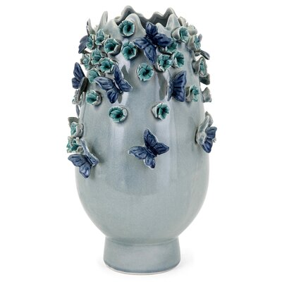 Ceramic Butterfly Table Vase