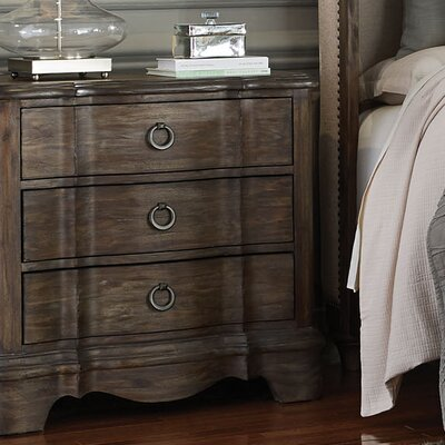 Wetherell 3 Drawer Nightstand