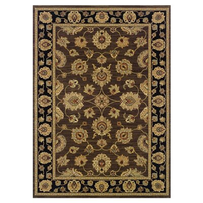 Mystic Cay Brown/Black Area Rug Rug Size: 2'3