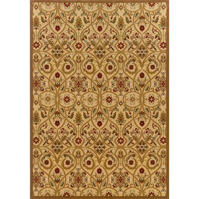 Montes Gold/Brown Area Rug Rug Size: 53 x 79