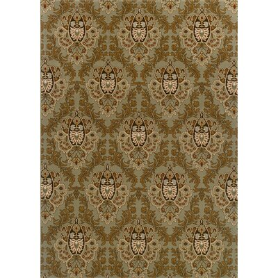 Montes Green/Brown Area Rug Rug Size: Rectangle 53 x 79