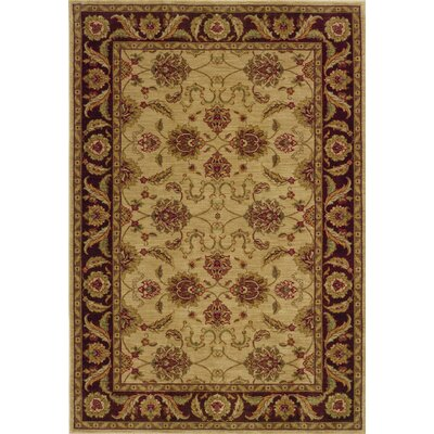 Barrows Beige/Brown Area Rug Rug Size: Rectangle 53 x 76