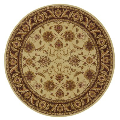 Barrows Beige/Brown Area Rug Rug Size: Round 78