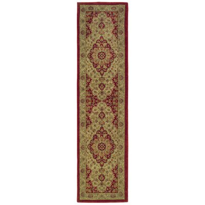 Barrows Red/Gold Area Rug Rug Size: Runner 111 x 76