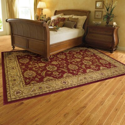 Barrows Red/Beige Area Rug Rug Size: 53 x 76
