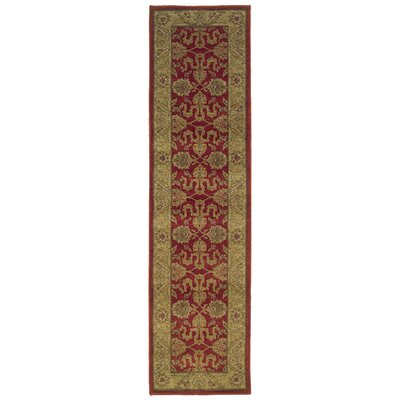 Barrows Red/Beige Area Rug Rug Size: Runner 111 x 76