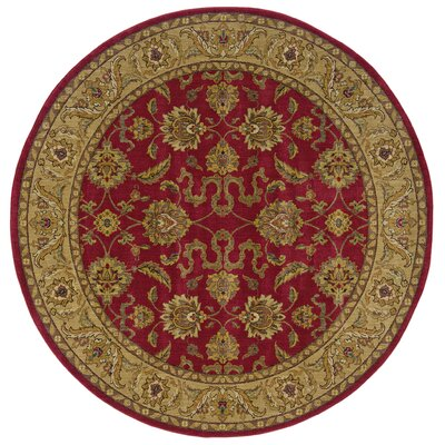 Barrows Red/Beige Area Rug Rug Size: Round 78