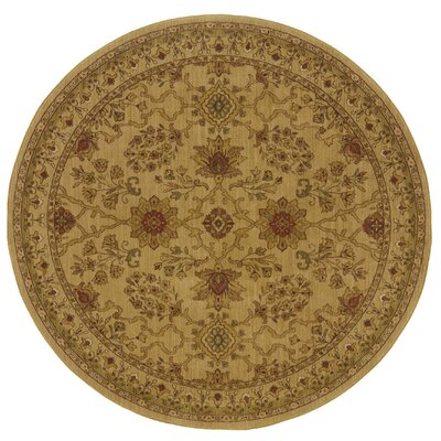 Barrows Beige/Red Area Rug Rug Size: Round 78