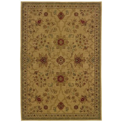 Barrows Beige/Red Area Rug Rug Size: Runner 111 x 76