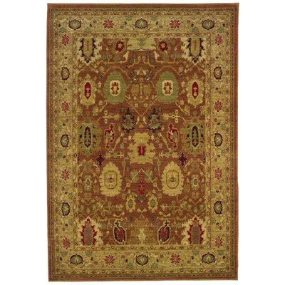 Barrows Rust/Gold Area Rug Rug Size: 78 x 1010
