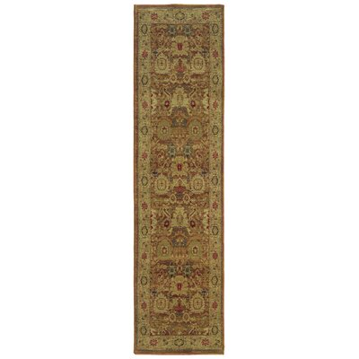 Barrows Rust/Gold Area Rug Rug Size: Runner 1'11