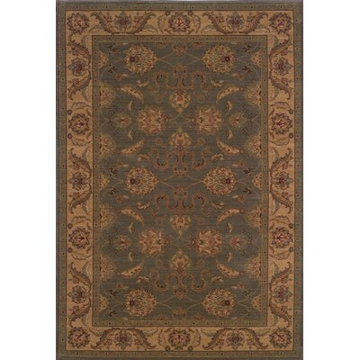 Barrows Floral Green/Beige Area Rug Rug Size: 67 x 96