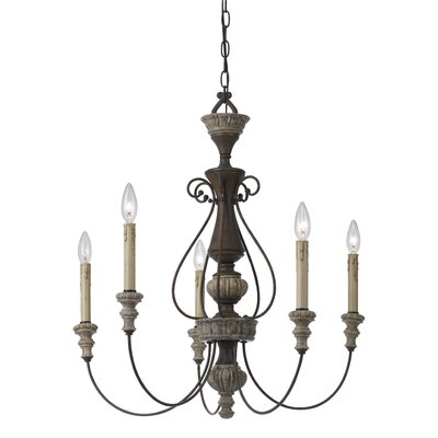 Carrollton 5 Light Candle-Style Chandelier