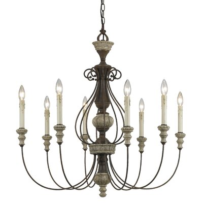 Carrollton 8 Light Candle-Style Chandelier