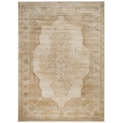 Parkmead Cream Area Rug Rug Size: Rectangle 810 x 122