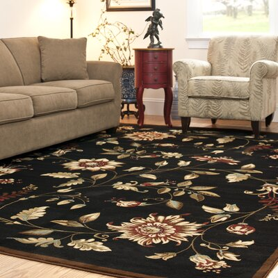 Taufner Black Area Rug Rug Size: Rectangle 5'3