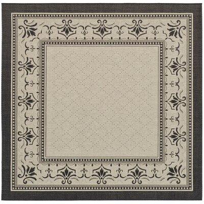 Beasley Vine Border Outdoor Rug Rug Size: Square 710