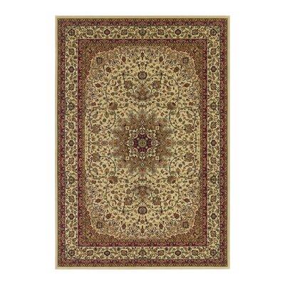 Blundell Royal Kashan Ivory/Brown Area Rug
