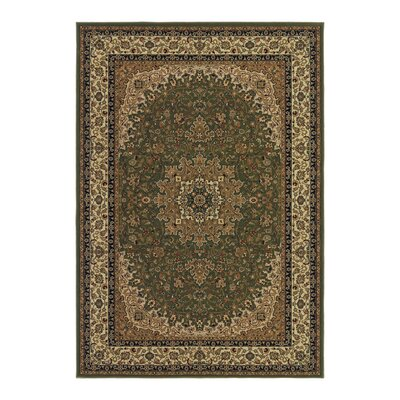 Blundell Royal Kashan Green/Brown Area Rug