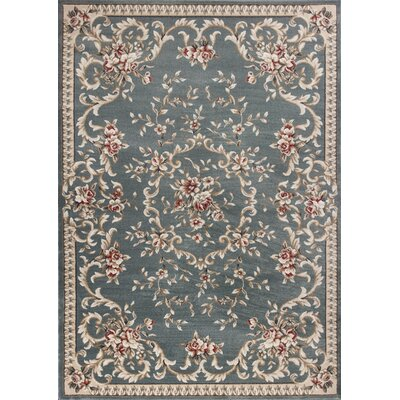 Vianney Aubusson Slate Blue Area Rug Rug Size: Rectangle 710 x 910