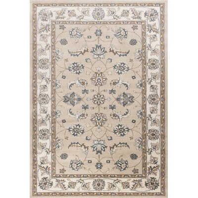 Arnot Beige/Ivory Area Rug Rug Size: Rectangle 53 x 77