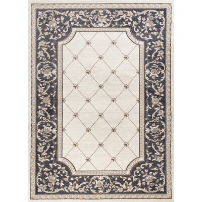 Vianney Courtyard Ivory/Gray Area Rug Rug Size: 9 x 12