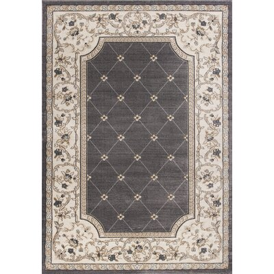 Vianney Gray/Ivory Area Rug Rug Size: Rectangle 53 x 77