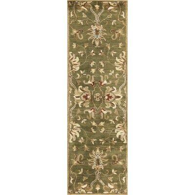Gonsalves Green Agra Rug Rug Size: Runner 23 x 76