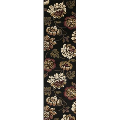 Eve Black Bella Rug Rug Size: Runner 22 x 711